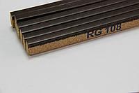 Пробковый компенсатор (порожек), 10мм, RG-108 Чёрный орех