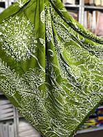 Турецкий хлопковый плед, размер 200 х 240 см, Sarar, зеленый