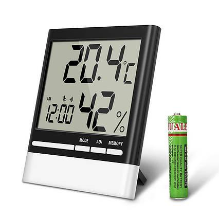 Домашний цифровой температурный гигрометр EIVOTOR с ЖК- дисплеем, фото 2