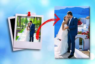 Заказать картину модульную с своей фотографией, на Холсте нат., 100х110 см., (70x35-3), фото 2