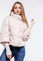 """Модная укороченная женская куртка """"Грейс"""" - NV - 016 крем"""