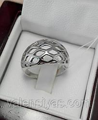 Оригинальное серебряное кольцо с родиевым покрытием