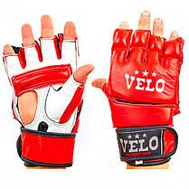 Перчатки для смешанных единоборств MMA кожаные VELO красные 4026ULIZ-S-R. Размер: Размер: S,M,LX,L