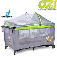 Детская кровать манеж Caretero Grande Plus graphite