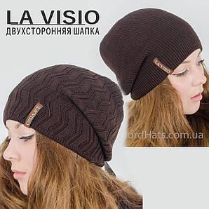 "Женская двухсторонняя шапка, ""La Visio"", коричневый"