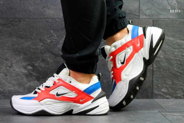 Кроссовки Nike М2K Tekno (бело/красные)
