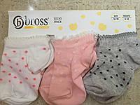 Носочки для малышей 6-12 месяцев Bross (3 пары на планшетке)