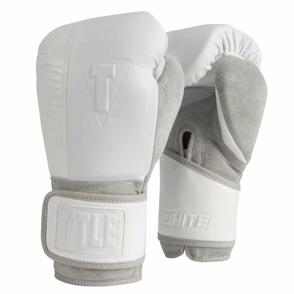 Боксерские перчатки TITLE WHITE Training Gloves