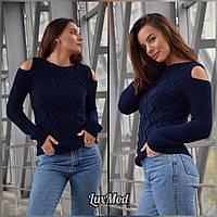 Женский свитер Анна, темно-синий, фото 1