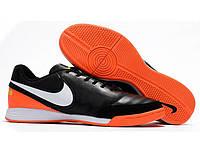 Футзалки Nike Tiempo Mystic V IC black orange