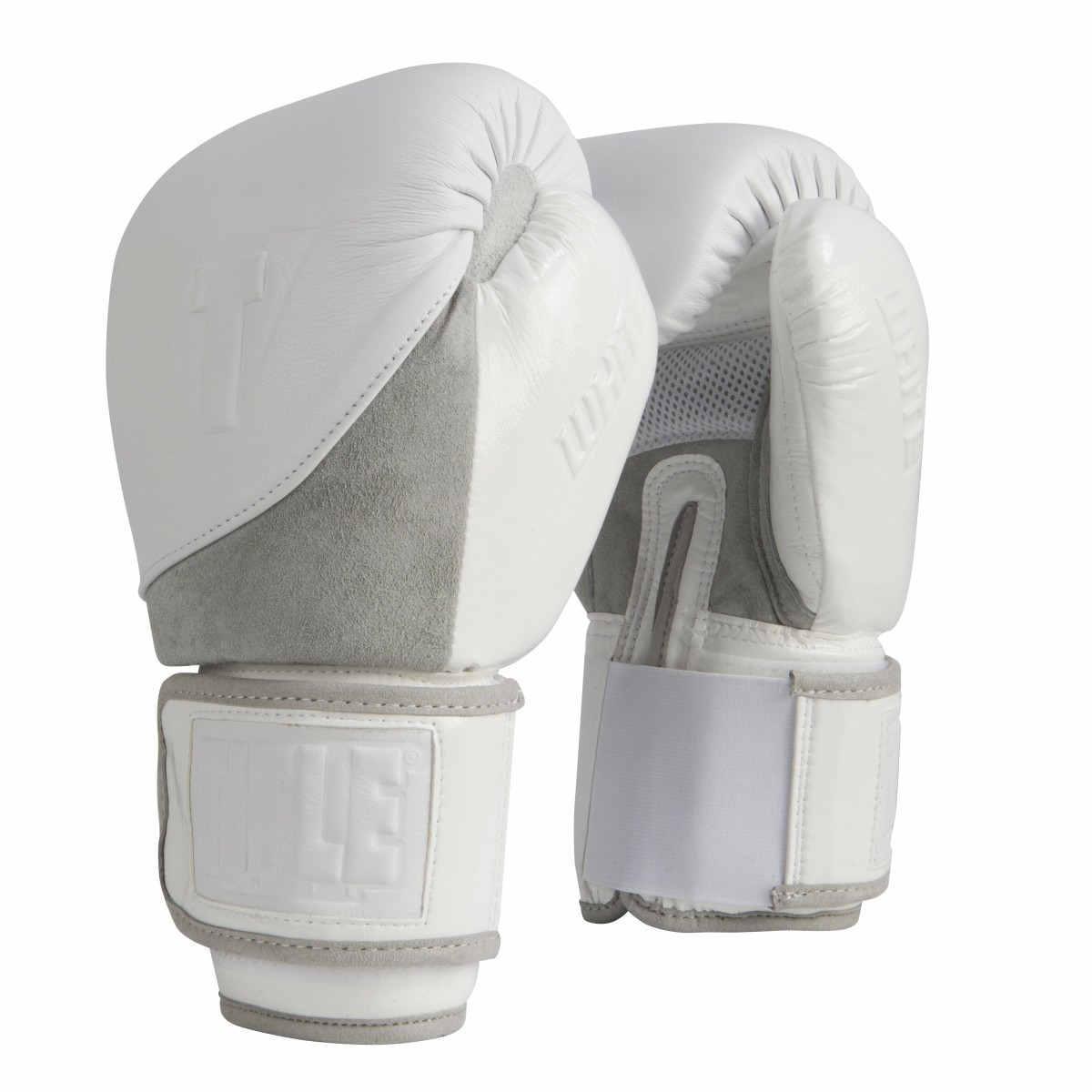 Боксерские перчатки TITLE WHITE Boxing Gloves