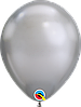 Воздушные шары Qualatex хром Серебро, 11' (28 см) 10 шт