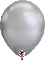 Шары11' хром Qualatex Q58276 Серебро, (28 см) 10 шт