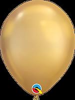 Шары 11' хром QualatexQ58277 Золото, (28 см) 10 шт