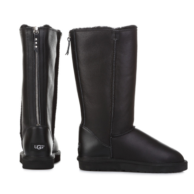 Ugg Classic Tall Zip Black Leather