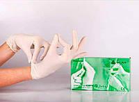 Перчатки смотровые латексные нестерильные припудренные Sempercare (Семперкеа), фото 1