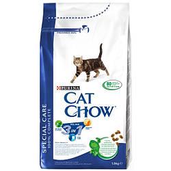 Сухой корм для кошек CAT CHOW Feline 3 в 1 с индейкой  1.5