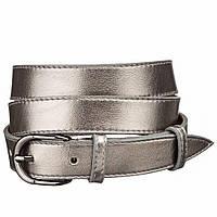 Ремень кожаный MAYBIK 15235 Серый металлик, Серый