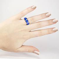 Кольцо вольфрамовое со стальной основой синее Арт. RN002WF (18), фото 2