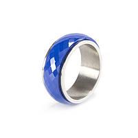 Кольцо вольфрамовое со стальной основой синее Арт. RN002WF (18), фото 3