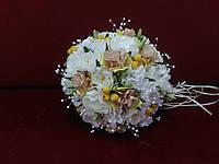 Свадебный букет-дублер айвори с желтым