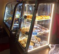 Кондитерская настольная деревянная витрина без охлаждения c подсветкой для кондитерских изделий, фото 1
