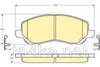 Тормозные колодки передние Mitsubishi Galant 06-