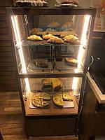 Напольная кондитерская деревянная витрина без охлаждения c подсветкой ручной работы, фото 1