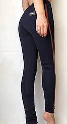 Модные женские лосины № 058 С (НА ФЛИСЕ) батал