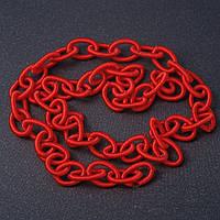 """Якірна ланцюг м'яка червона текстиль """"ланка"""" 1,3*0,8 см L-90см"""