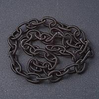 """Якірна ланцюг м'яка чорна текстиль """"ланка"""" 1,3*0,8 см L-90см"""