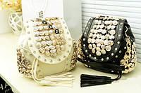 Оригинальный элегантный рюкзак с дизайнерскими пуговицами Смотреть кожаный аксессуар Онлайн одежда Код: КГ5936, фото 1