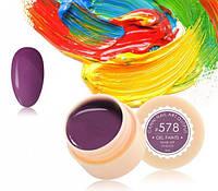 Гель-краска Canni 578 темная пастельно-лиловая, фото 1