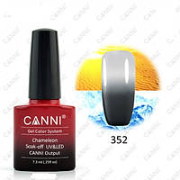 Термо гель- лак Canni 352 темный серый - светлый серый