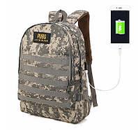 Большие тактические камуфляжные рюкзаки PUBG с USB Современный стильный дизайн Военный стиль Код: КГ5937