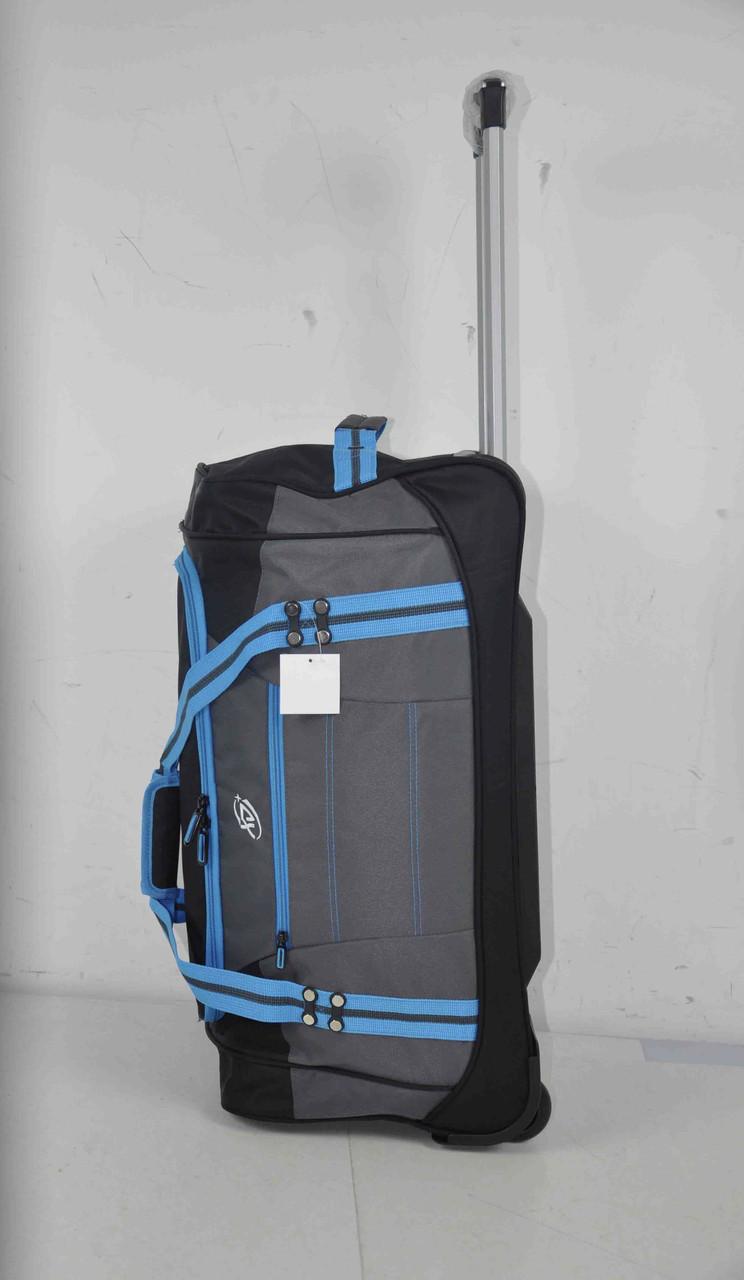 Дорожная сумка на колесах средняя с выдвижной ручкой