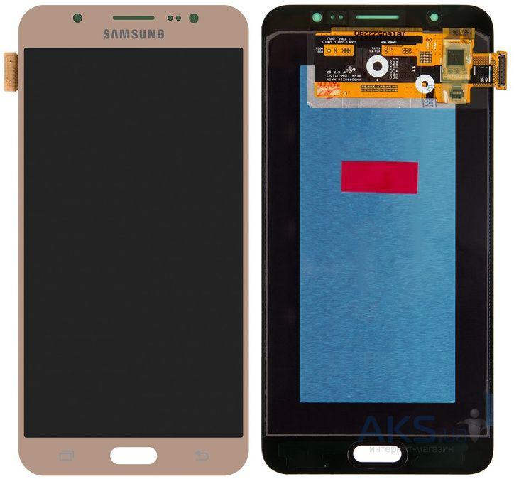 Дисплей (экран) для телефона Samsung Galaxy J7 (2016) J710F, J710FN, J710H, J710M + Touchscreen Gold