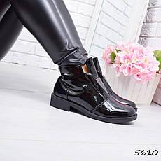 """Ботинки, ботильоны черные """"Mirror"""" эко кожа, повседневная, демисезонная, осенняя, женская обувь, фото 2"""