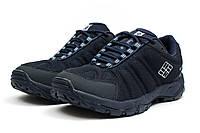 Осенне/весенние мужские кроссовки Columbia Omni-Grip (Коламбия Омни-Грип) темно-синие - реплика
