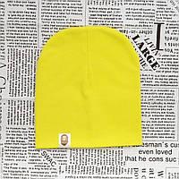 Демисезонная трикотажная шапка Варе Цвет лимонный
