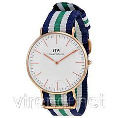 Часы Daniel Wellington ( green-blue-white )
