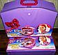 """Домик для куклы Барби в чемодане """"Gloria"""" 2014HB гостинная Размер чемоданчика 38*28*13,5см, фото 3"""
