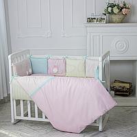 Комплект в кроватку Зайчики. Розовый
