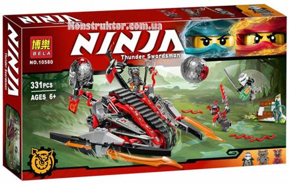 "Конструктор Bela 10580 ""Алый захватчик"" Ниндзяго, 331 деталей. Аналог Lego Ninjago 70624"