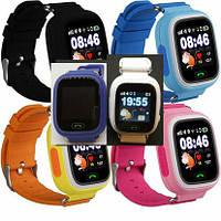 Детские умные часы Samtra Q90 с GPS  (черние, синие, темно синие, розовие, желтие)