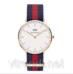 Часы Daniel Wellington ( red blue )