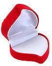 Футляр для кольца Сердце с розой бордо/белый, фото 2