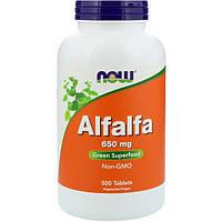 Люцерна Alfalfa 650 мг 500 таб для почек, сердца  снижение холестерина при цистите Now Foods (USA)