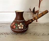 Керамическая турка Вишенка, фото 1