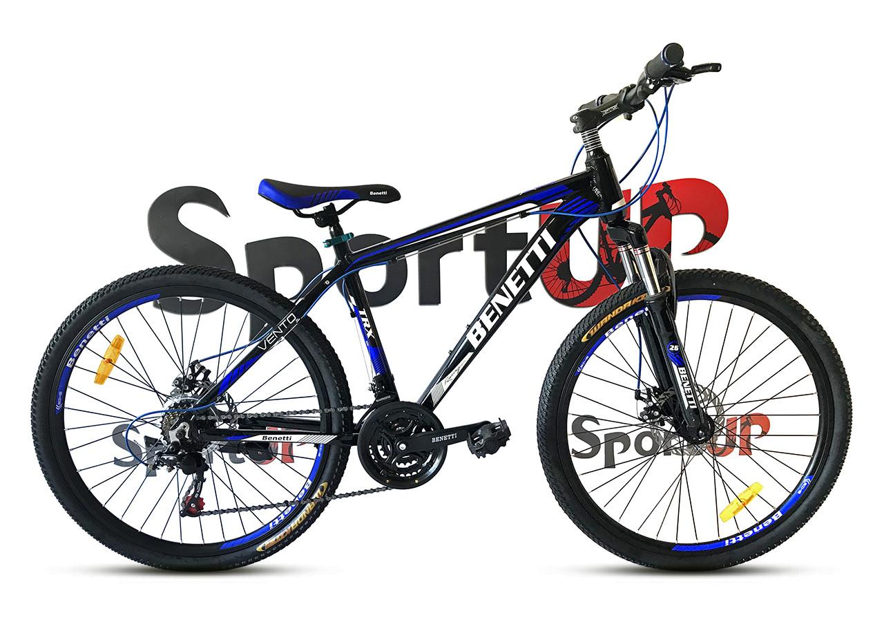 """Горный велосипед BENETTI VENTO 27,5""""  Черный/Синий"""